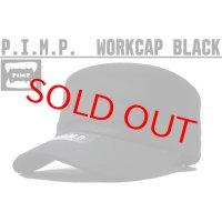 PIMP LOGO WORK CAP BLACK