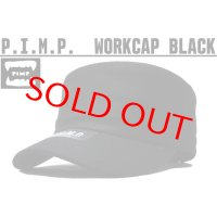 PIMP LOGO WORK CAP BLACK