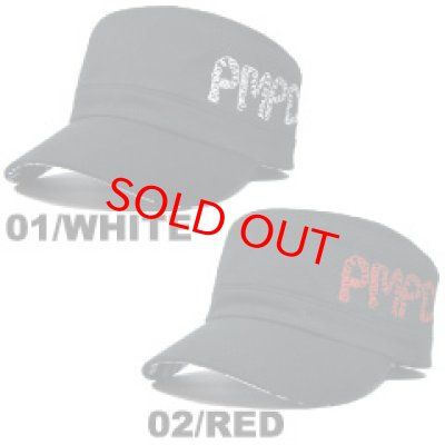 画像2: PIMP DUST-2 WORK CAP WHITE/RED