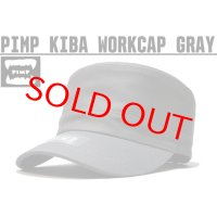 PIMP KIBA LOGO WORK CAP GRAY
