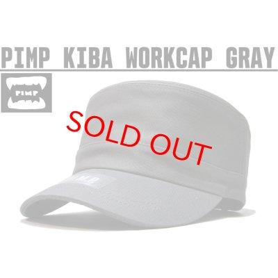 画像1: PIMP KIBA LOGO WORK CAP GRAY