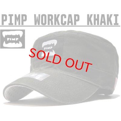 画像1: PIMP WORK CAP KHAKI