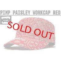 PIMP ペイズリー WORK CAP RED