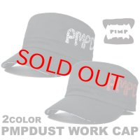 PIMP DUST-2 WORK CAP WHITE/RED