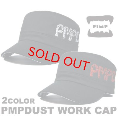 画像1: PIMP DUST-2 WORK CAP WHITE/RED