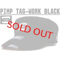 PIMP TAG WORK CAP BLACK