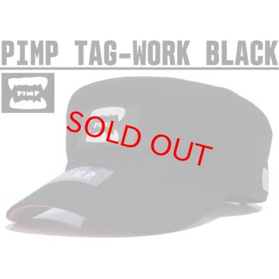 画像1: PIMP TAG WORK CAP BLACK