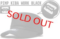 PIMP KIBA LOGO WORK CAP BLACK