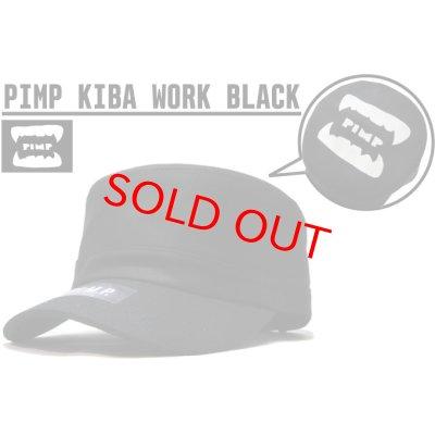 画像1: PIMP KIBA LOGO WORK CAP BLACK